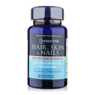 Sales sốc - Chống rụng tóc, tóc dày mượt, đẹp da, móng tay khỏe (hsd 29 9 2021) Puritan s Pride Hair, Skin & Nails 30 Viên thumbnail