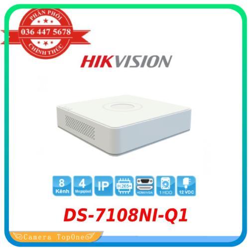 [NHÀ PHÂN PHỐI, BH 2 NĂM, FREESHIP 20K]Đầu ghi IP 8 kênh Hikvision DS-7108NI-Q1 H.265+