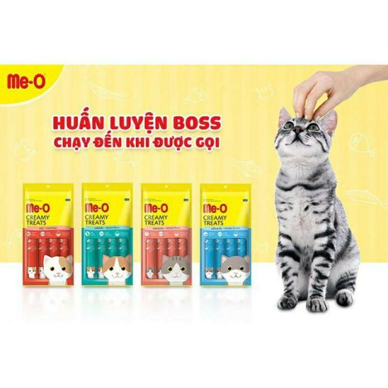 Súp Thưởng dinh dưỡng Me-O Creamy Treats Cho Mèo - 1 thanh Gan Gà