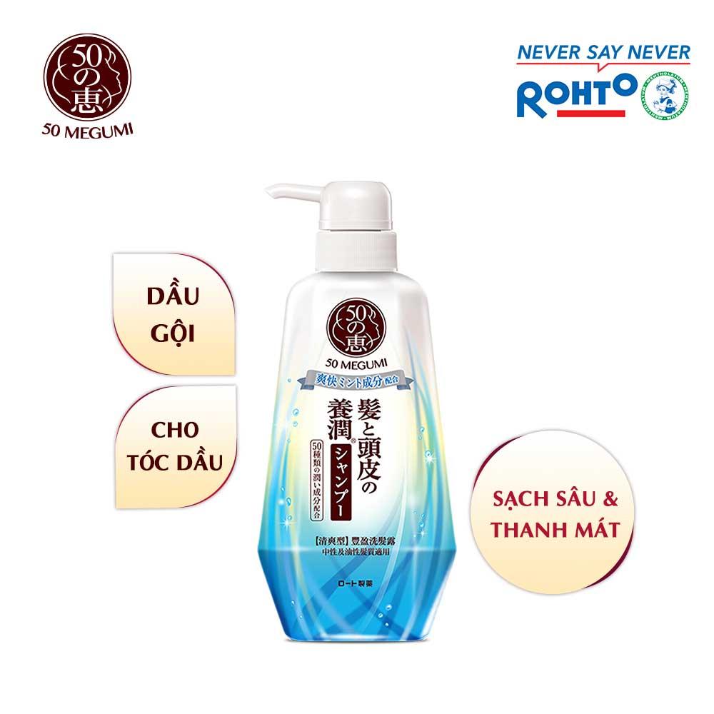 Dầu gội sạch sâu và thanh mát 50 Megumi Fresh And Clean Shampoo 400ml