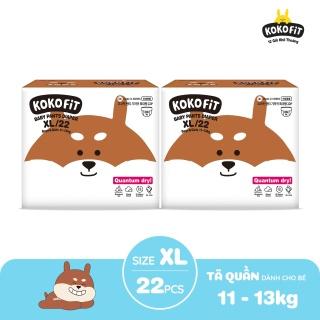 Combo 2 Tã Bỉm quần KOKOFiT Hàn Quốc size XL22 - Siêu Thấm Chống Tràn Khô Thoáng Cho Bé Từ 11-13kg thumbnail