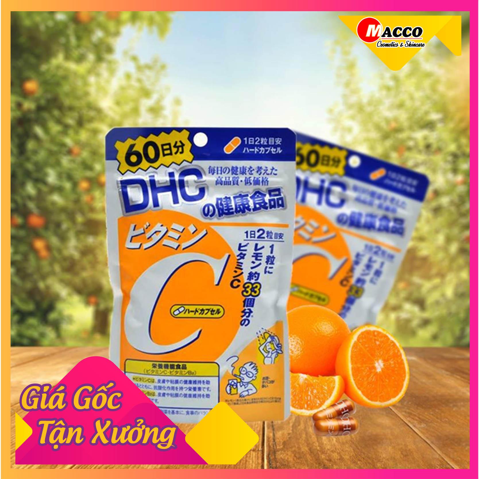 Viên uống DHC bổ sung Vitamin C 120 viên 60 ngày của Nhật Bản Tăng Cường Hệ Miễn Dịch, Ngăn Ngừa Cảm Cúm Thông Thường, Giữ Cho Hệ Hô Hấp Được Bảo Toàn