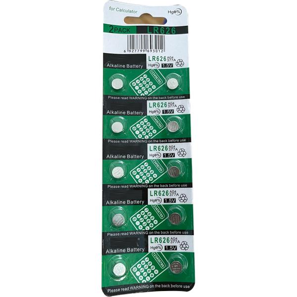 Vỉ (10 viên) crnaira pin AG4 / LR626SW / 377A / CX66W dùng cho đồng hồ đeo tay 3 kim ĐIỆN ÁP 1,5V