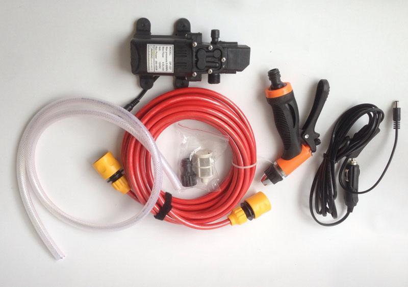 Bộ Máy bơm rửa xe tăng áp lực nước mini - Máy rửa xe cao cấp