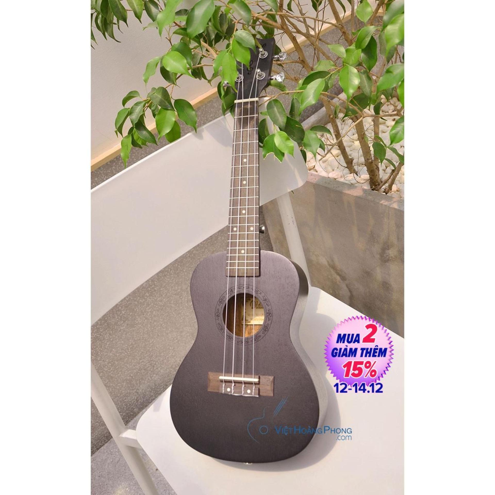 Đàn Ukulele Concert Diduo gỗ nguyên tấm UK-2300 tặng Bao da 3 lớp, Sách học, Phím gảy - HappyLive Shop