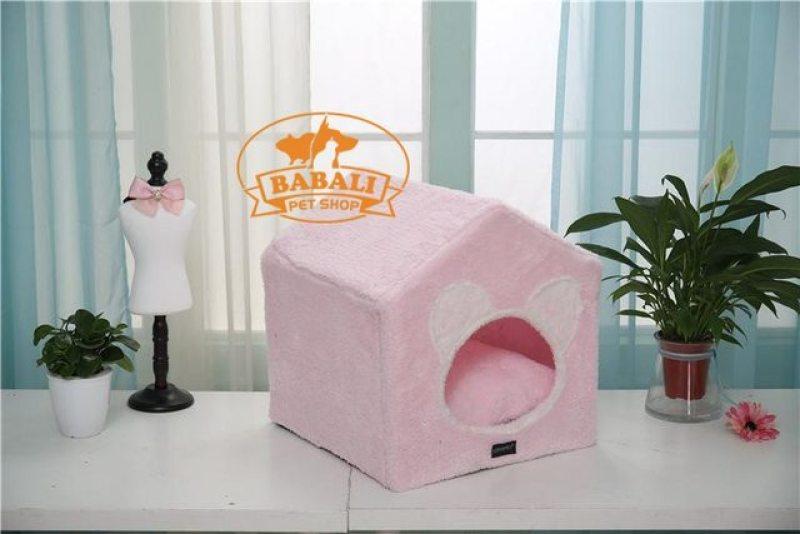 Nhà lông cotton khung nhựa cho thú cưng kugoda