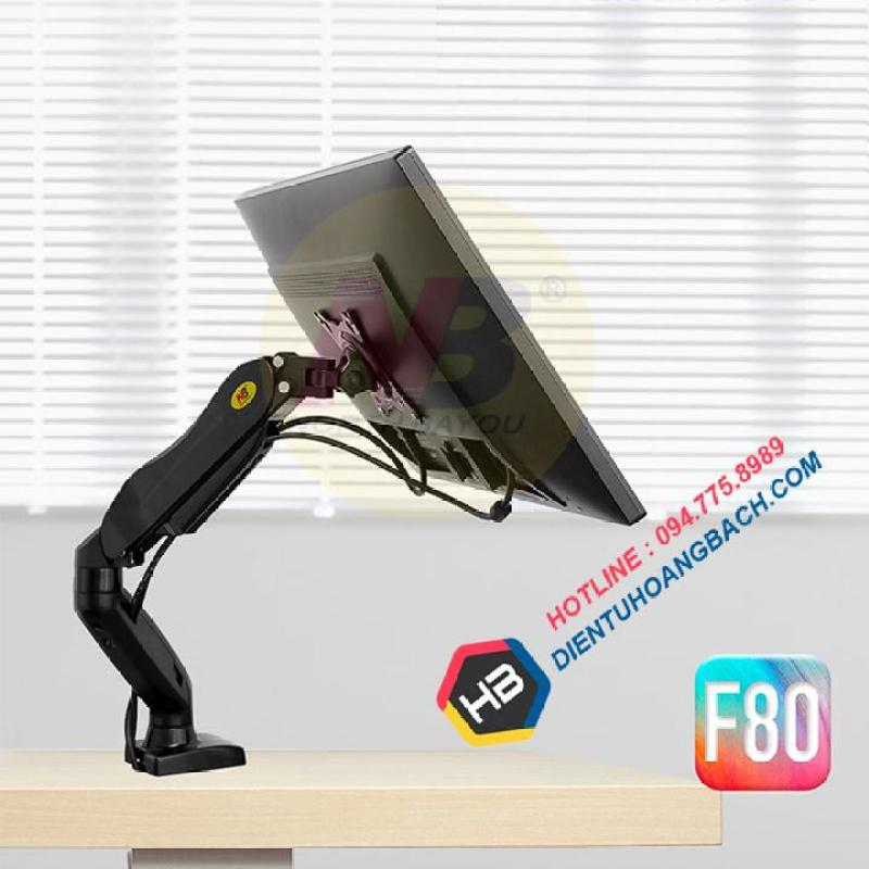 Giá đỡ màn hình máy tính F80 17-27 inch - Xoay 360 độ
