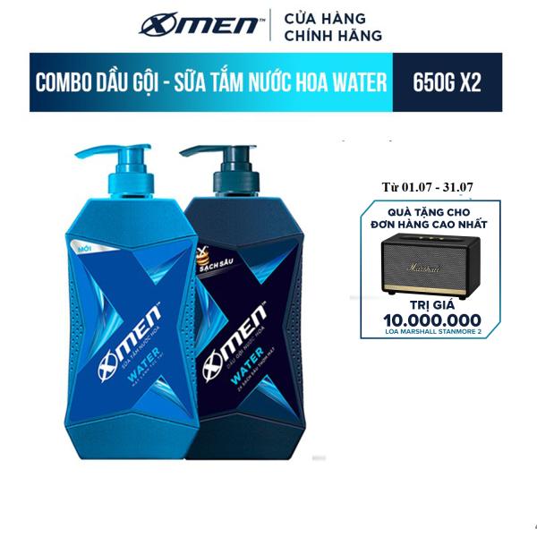 Combo Dầu Gội và Sữa Tắm X-Men Nước hoa Water (650G/Chai)