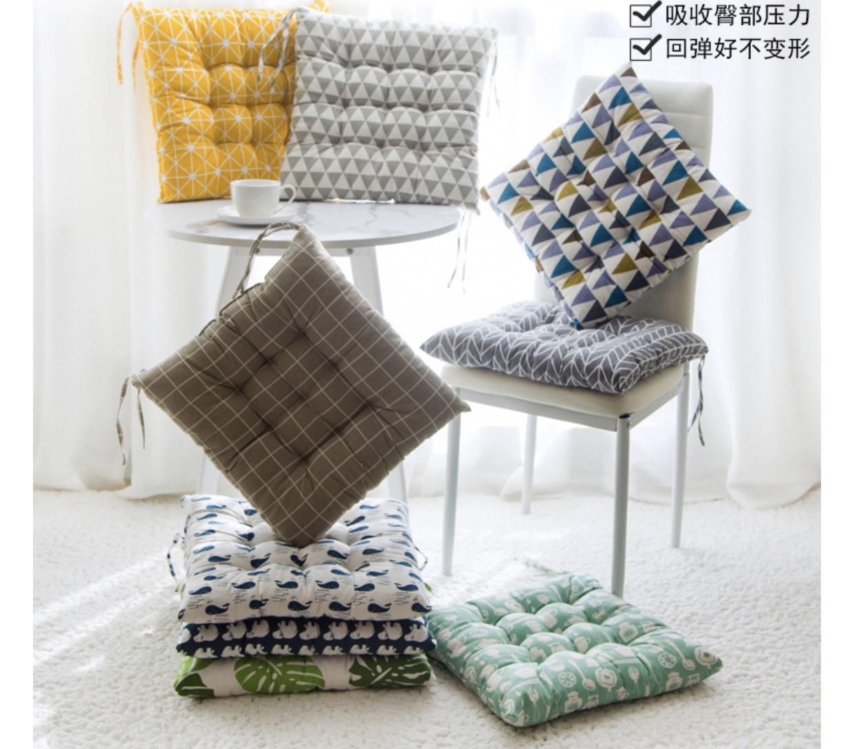 [ SIZE 40CM ] Đệm ngồi bệt, gối lót ghế vuông SBK001 40cm nhiều mẫu