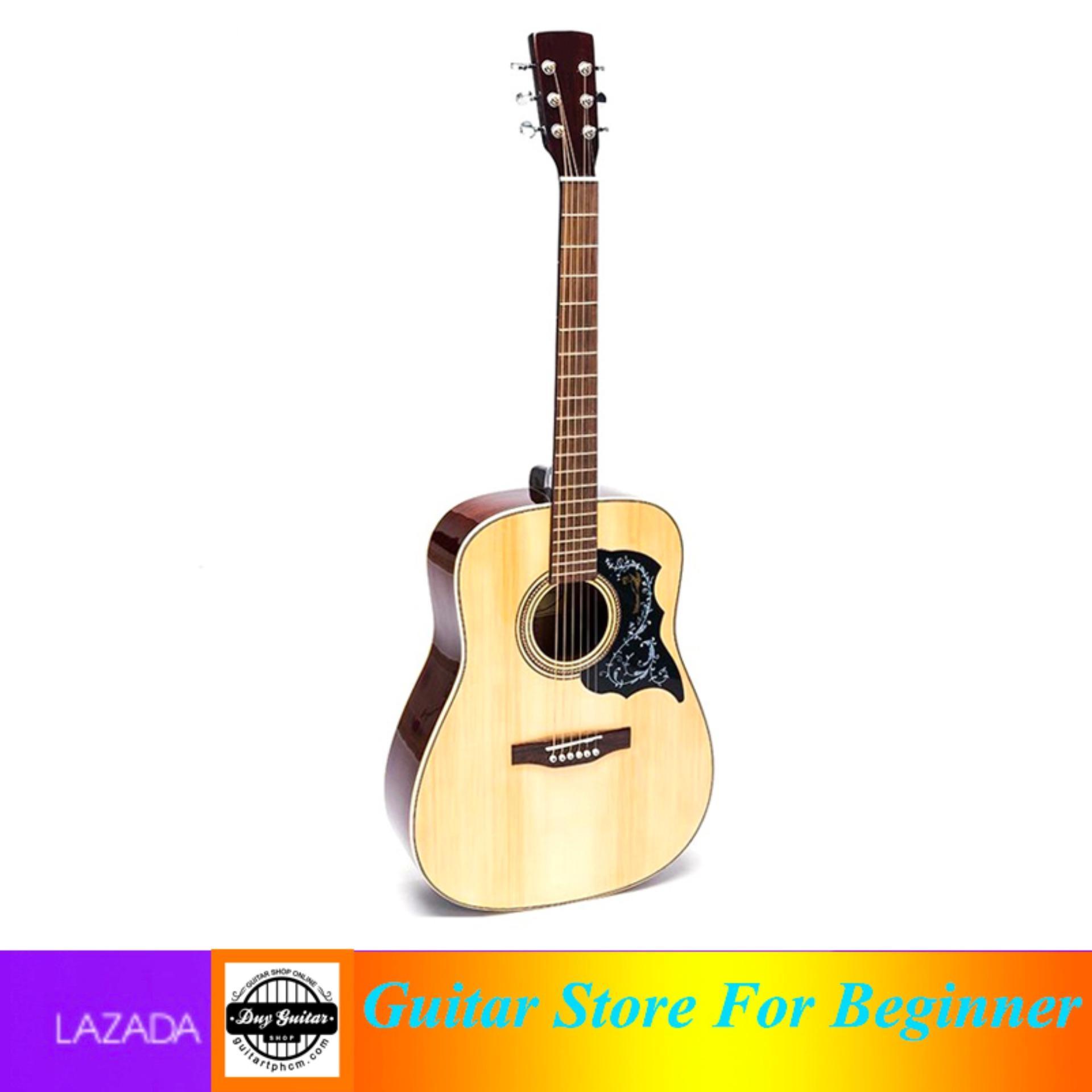 Đàn guitar Acoustic DD200 NAT + Tặng bao da, phụ kiện - Duy Guitar shop đàn guitar giá tốt - Uy tín