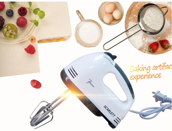 (HÀNG CAO CẤP) Máy đánh trứng cầm tay Scarlett 7 cấp độ công suất 180w - tiện lợi an toàn sử dụng trong nhà bếp