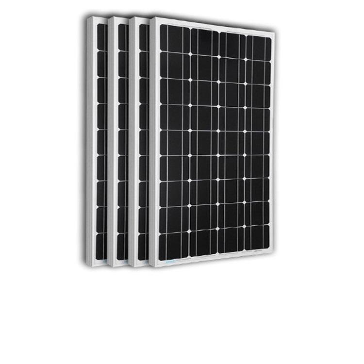 Tấm Pin năng lượng mặt trời đơn tinh thể Mono 50W tặng điều khiển sạc 30A 12V/24V LCD (công suất 360w) + jack MC4