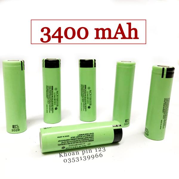 Bảng giá Cell pin 18650 li-ion dung lượng khủng 3400 MAH bao check made in Japan (pin màu xanh lá)