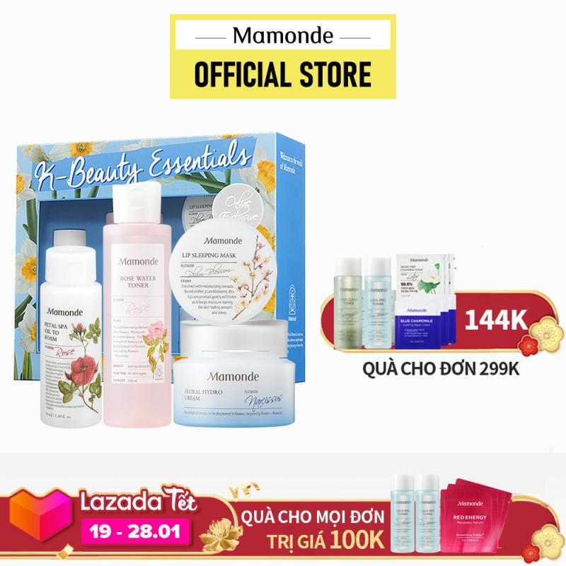 Bộ sản phẩm chăm sóc da toàn diện chuẩn Hàn Mamonde K-Beauty Essentials Set giá rẻ