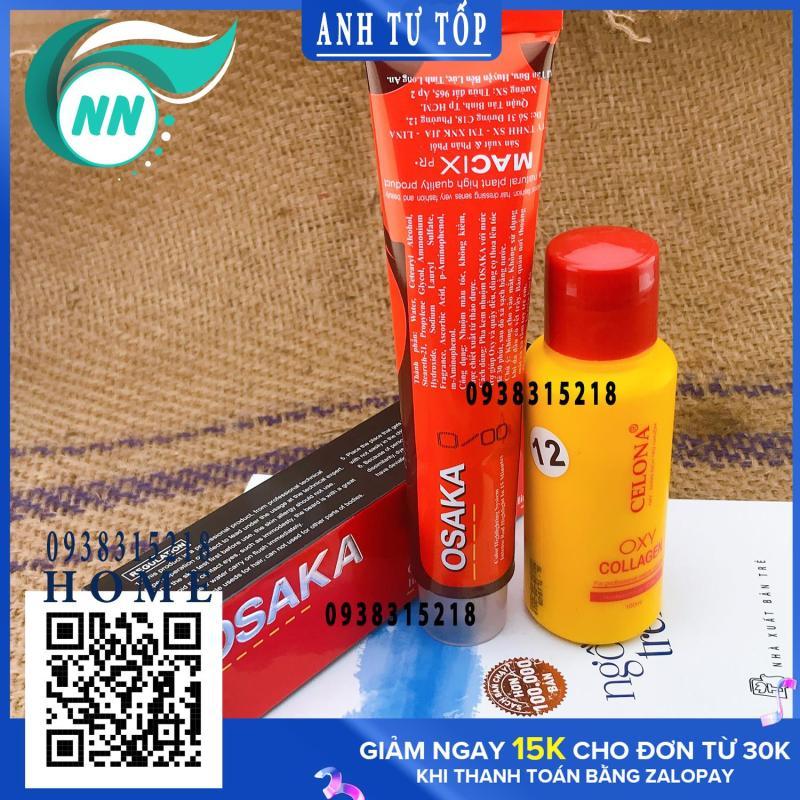 Thuốc Nhuộm Tóc 0.00 + Bình Oxy 12 tặng kèm ( Tone màu tẩy cơ bản , vàng sáng ) giá rẻ