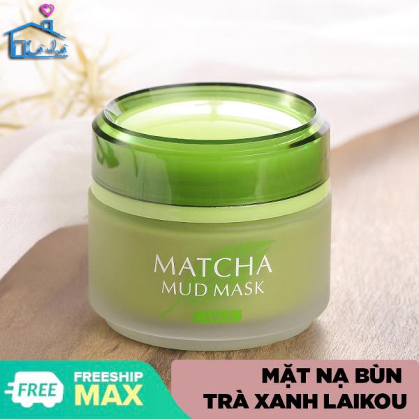 Mặt nạ bùn khoáng Matcha Laikou Mặt nạ đắp Matcha Mud Mask Laikou chăm sóc da mặt ngăn ngừa mụn thu nhỏ lỗ chân lông kem dưỡng ẩm cho da dầu