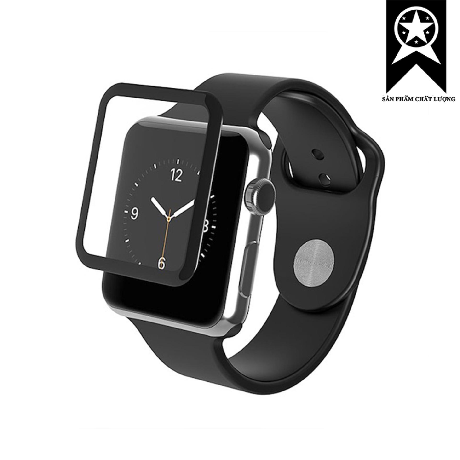 Cường lực Apple Watch full keo 5D Full màn hình size 38mm (Cao cấp)