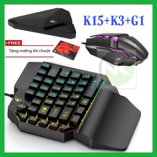 B.àn Ph.ím K15 + Ch.uột K3 + H.ộp Ch.uyển Đ.ổi G1 (COMBO TRỌN BỘ) chơi game PUBG Mobile cho Android, IOS, iPad như PC - NK thumbnail