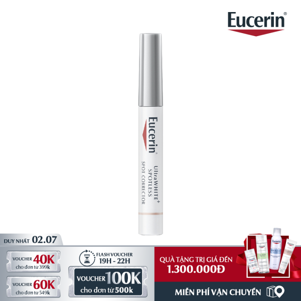 [GIẢM NGAY 160K] Tinh Chất Chuyên Biệt Giảm Thâm Nám Eucerin UltraWHITE+ SPOTLESS Spot Corrector 5ml