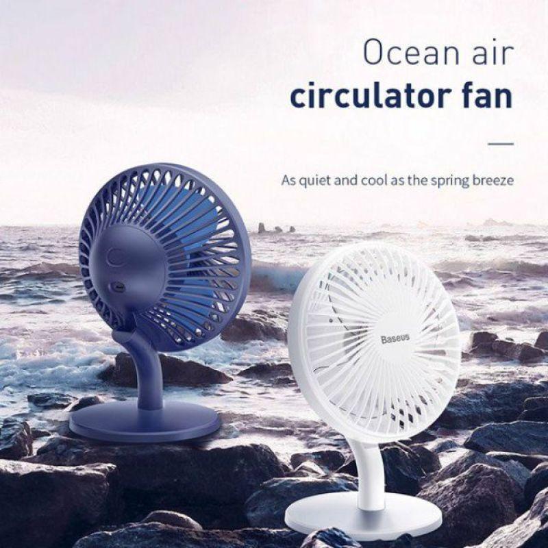 [Mã ELHA1212 giảm 7% tối đa 300k] [HOT HOT HOT] Quạt mini để bàn Baseus Ocean Fan Pin sạc 2000mAh, 4 mức tốc độ