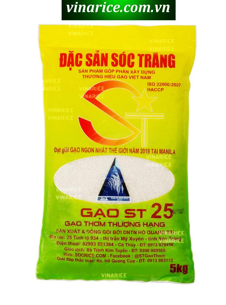 Gạo Đặc Sản Sóc Trăng ST25 5kg - Gạo Ngon Nhất Thế Giới 2019 - Thơm Ngon Hảo Hạng Đang Có Khuyến Mãi