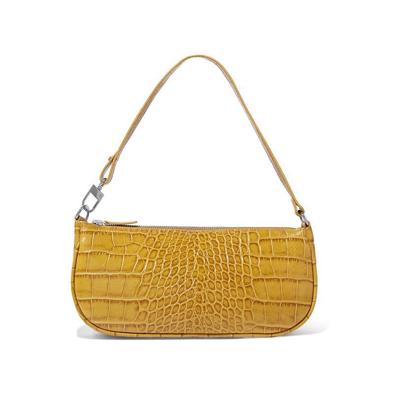 Vintage Alligator Print Handbag Minority Design Shoulder Bag Ken Beans Celebrity Style Armpit Package Small Bag Baguette Bag Small Shoulder Bag in Imitation