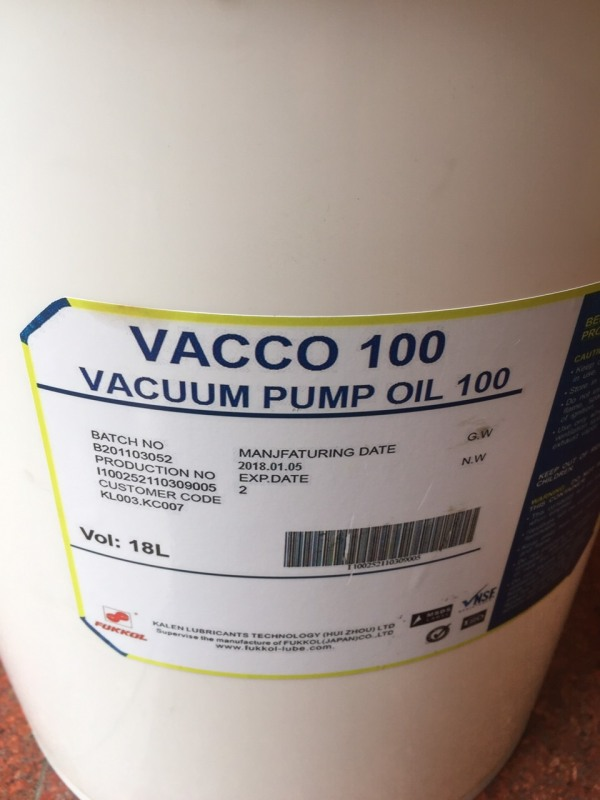 Dầu bơm chân không Vacco 100