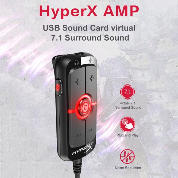 Bảng giá Sound card âm thanh 7.1 HyperX AMP hàng chính hãng new nguyên seal Phong Vũ
