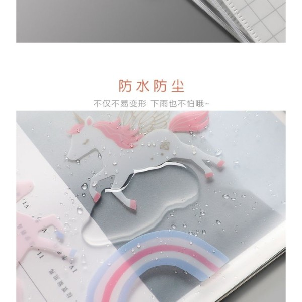 Mua [Lấy mã giảm thêm 30%]Bìa đựng hồ sơ khoá zip - hình unicorn - chứa được 150 tờ A4