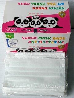 [Trẻ Em M.Trắng] 50 Cái khẩu trang y tế 4 lớp kháng khuẩn trẻ em ECO Mask ngăn ngừa vi khuẩn bụi bẩm qua đường hô hấp (50 cái hộp) thumbnail