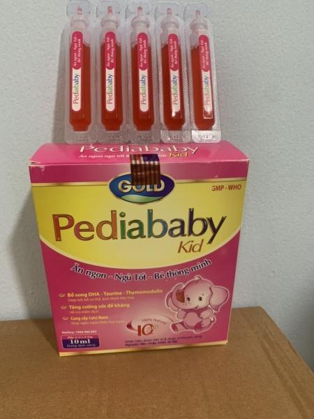 [HCM](chính hãng) Pediababy Kid giúp ăn ngon ngủ tốt bé thông minh tăng cường sức đề kháng cung cấp canxi bổ sung DHA vitamin và khoáng chất cho cơ thể gaiamr còi xương suy dinh dưỡng ở trẻ rất hiệu quả hộp 20 ống cao cấp