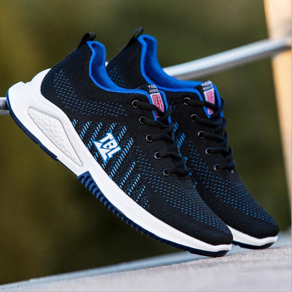 Giày thể thao nam phong cách Hàn Quốc hot trend 2021,Giày sneaker TBE-TBL vải lưới thoáng khí,đế cao su êm ái màu Xanh-Shop Giày Vàng