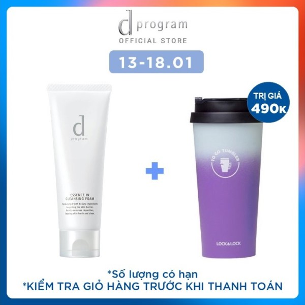 Sữa rửa mặt tạo bọt dưỡng da dProgram Essence In Cleansing Foam 120g