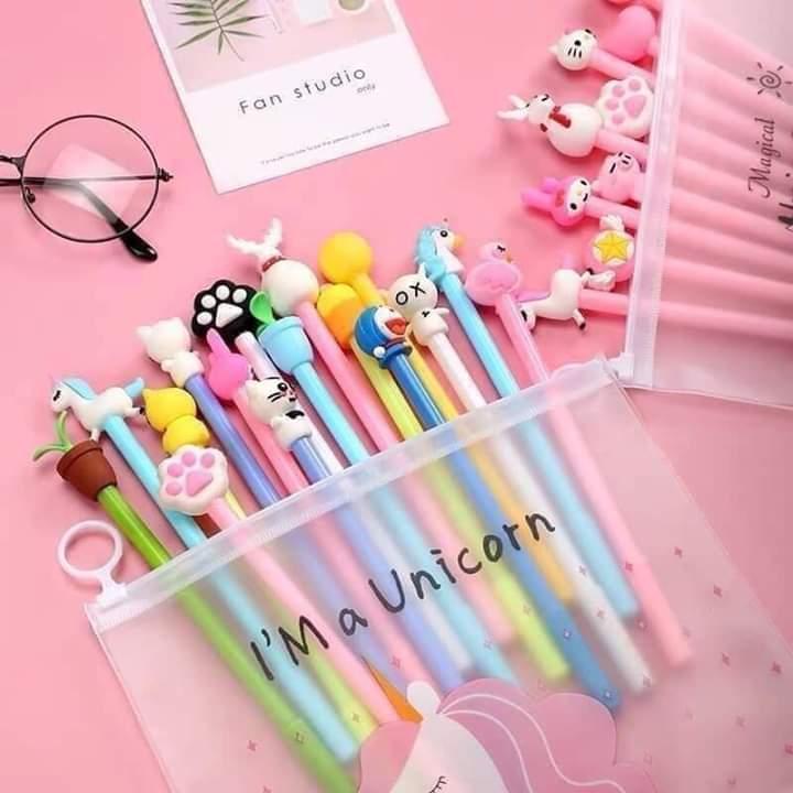 Mua Set 20 bút bi nước siêu cute, bút bi hình thú ngộ nghĩnh