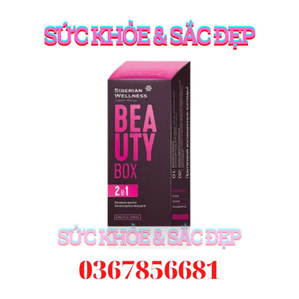 BEAUTY BOX - Viên uống đẹp da, tóc và móng trẻ hóa cơ thể BEAUTY BOX Siberian Wellness Siberi Nga – 30 viên – Date T5/2023