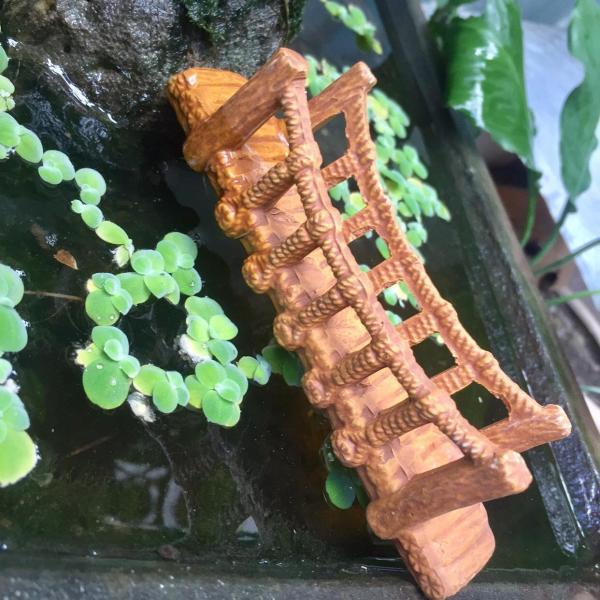 [HCM][ Chọn size] Cây Cầu Dây Gốm Vàng Trang Trí Hổ Cá Bể Cá-Hòn Non Bộ