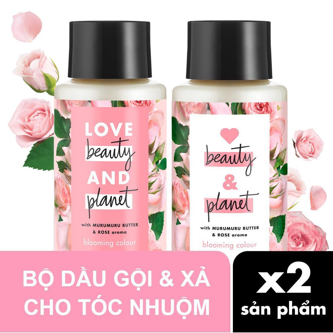 Combo chăm sóc tóc nhuộm dầu gội & dầu xả Love Beauty & Planet 400ml