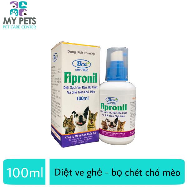 Thuốc xịt diệt ve ghẻ bọ chét cho chó mèo - Fipronil 100ml