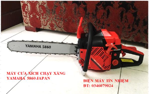 Máy cưa xích, Máy cưa gỗ chạy xăng YAMAHA.Lam 55cm, xích 38 mắt, tặng bình pha nhiên liệu, bao Lam, dũa xích và nhiều phụ kiện.