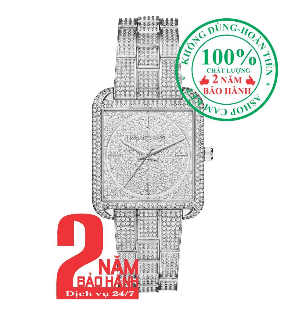 Đồng hồ nữ Michael Kors MK3662, Vỏ và Mặt đồng hồ màu Bạc (Silver), nạm đá pha lê Swarovski, size 33mm, Dây màu Bạc (Silver)- MK3662 bán chạy