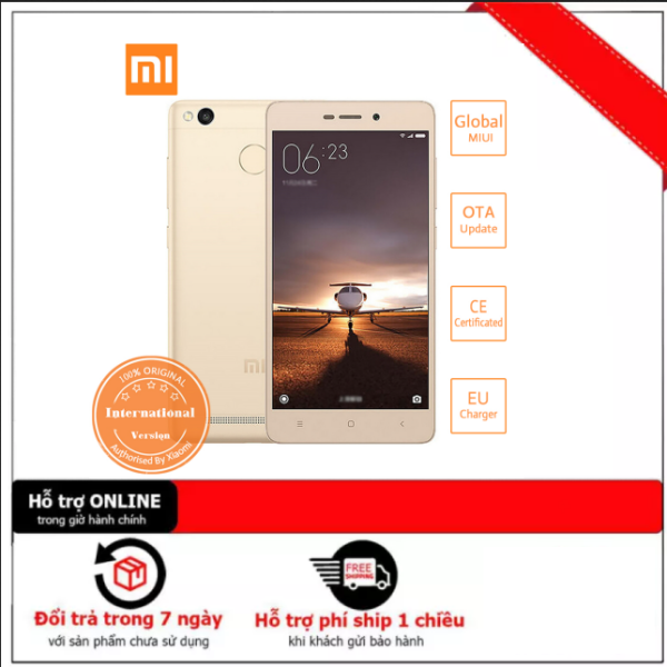 Điện thoại cảm ứng Smartphone Xiaomi Redmi Note 3 Pro 2sim (3GB/32GB) - Có Tiếng Việt - Dung lượng pin 4000 mAh
