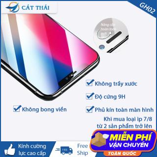 [Miếng dán màn hình] Kính cường lực dành cho Iphone 6 7 8 X 11 6Plus 7Plus 8Plus XS MAX Iphone 11 Pro Max - GH02 thumbnail