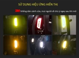 [ Giá Sốc ] Bộ 4 Miếng Decal Phản Quang Dán Cánh Cửa Ô Tô OPEN Cao Cấp AZONE - Phụ kiện ô tô xe hơi thumbnail