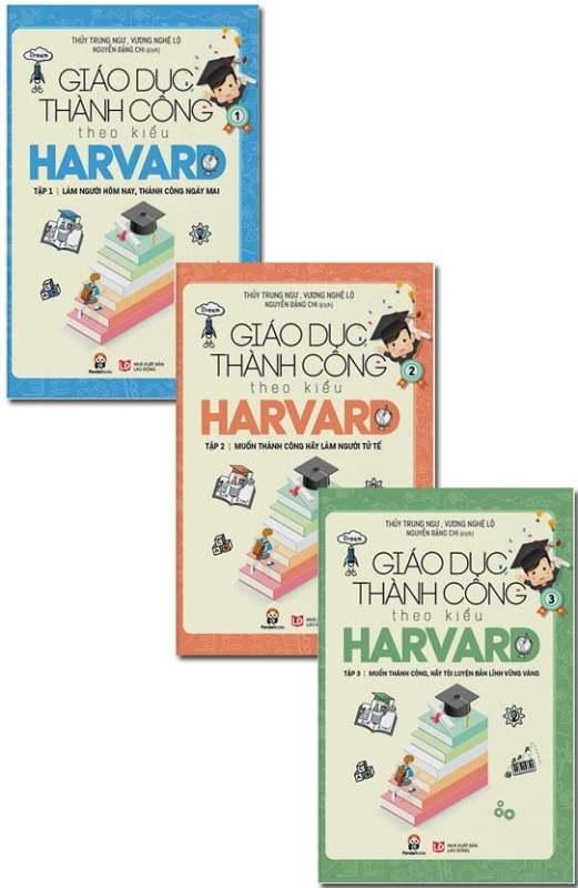 Fahasa - Combo Sách Hay Giáo Dục Thành Công Theo Kiểu Harvard (Bộ 3 Cuốn)