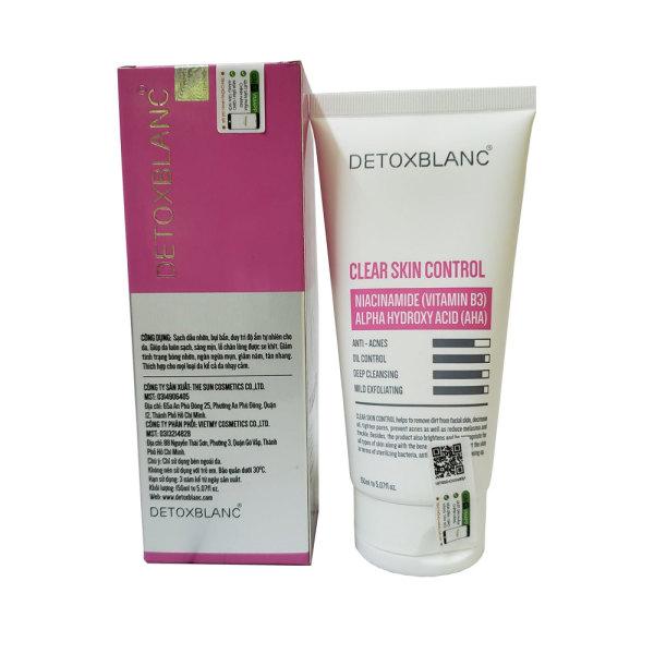 Sữa rửa mặt sinh học Detox Blanc 150ml sạch da thải độc nhập khẩu