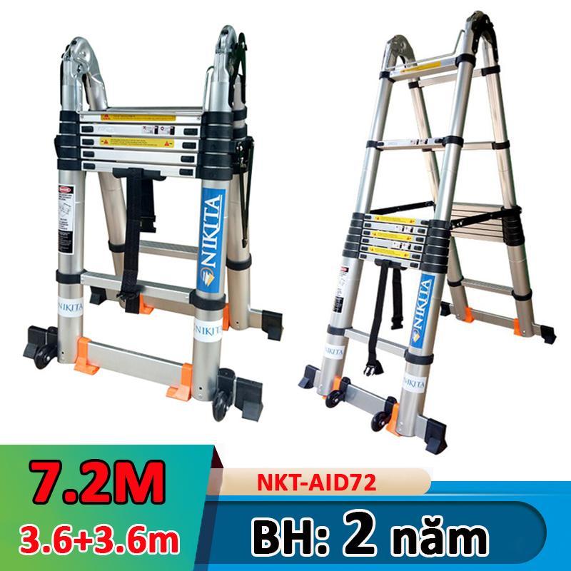 Thang nhôm rút đa năng 7,2m Nikita NKT-AID72 NEW 2019