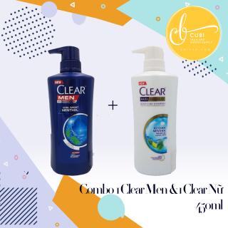 COMBO 1 Chai CLEAR MEN 450ml & 1 Chai CLEAR BẠC HÀ 480ml Thái Lan thumbnail