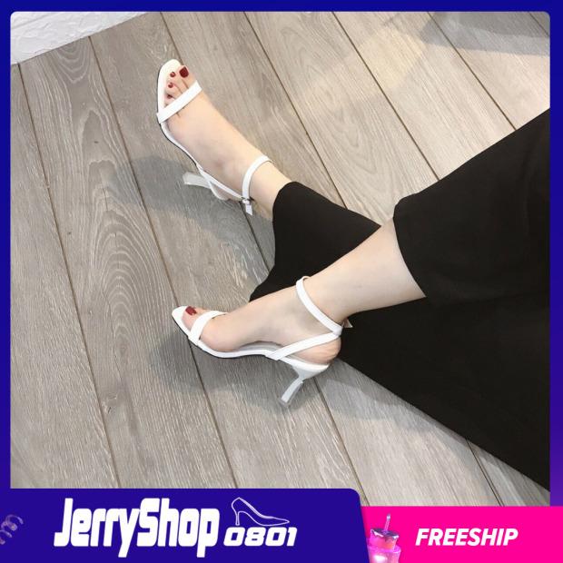 Giày cao gót nữ 7 phân quai mảnh gót lõi sơn siêu đẹp giá rẻ