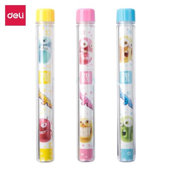 Mua Ruột bút chì Deli - 0.5mm/0.7mm - ngòi chì kim - Xanh, Hồng, Vàng - màu ngẫu nhiên - 2 ống - EU67200 / EU67300