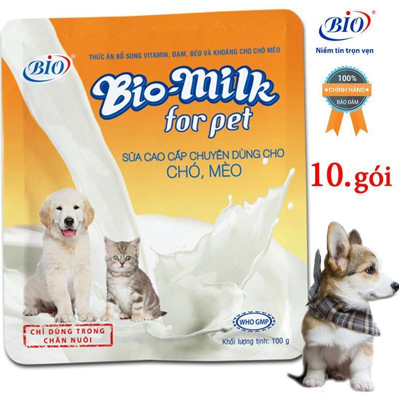COMBO 10 BỊCH SỮA BIO MILK CHO CHÓ MÈO-79400